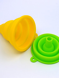 Silicone Kitchen Essential Tool Scalable Funnel (Color Random)
