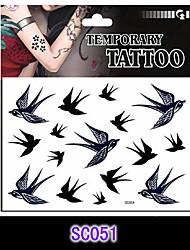 Cartoon Swallow Temporary Tattoo Stickers One(pcs) Size 17*16cm