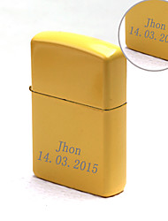 Personalized Gift Yellow Color Engave Oil Lighter