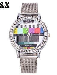 Women's Fashion TV Quartz Analog Steel Belt Watch