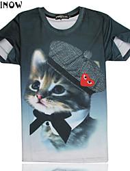 T-shirt ( Multicolore , Cotone ) - MEN - Maniche corte - da Casual/Sport - Stampa