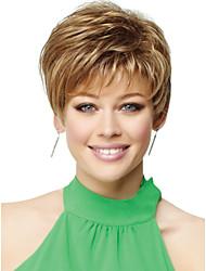 высокое качество шапки короткие волнистые моно топ парики человеческих волос 6 цветов на выбор