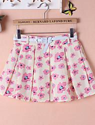 Women's Printed Medium chiffon fashion Sexy Skirts