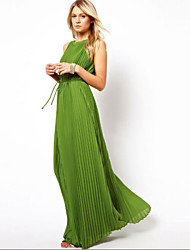 Women's Sexy/Beach/Casual/Party Sleeveless Maxi Dress