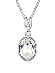 Sweet Sweet Lover Short Necklace Plated with 18K True Platinum Crystal Clear Crystallized Austrian Crystal Stones
