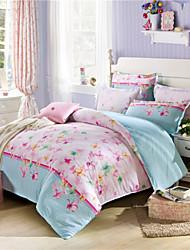 Butterfly Queen Duvet Covers 100% Cotton for Girls