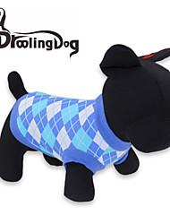Katzen / Hunde T-shirt Rot / Blau Hundekleidung Frühling/Herbst Plaid/Karomuster