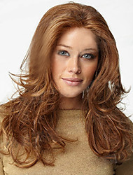 The New European And American Middle-Aged Brown Long Hair Wig