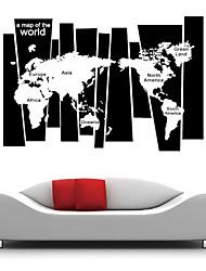 stickers muraux stickers muraux, style créatif carte disposition des pvc mondiale stickers muraux