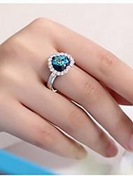 PHENER Women's Casual Heart Diamonade Ring