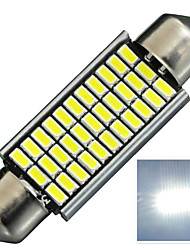 2.8W 12V 330LM DA42MM  3014-33SMD C5W Canbus with radiator Color White License Plate and Tail Box  LED Lamp for Car