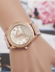 yoonheel Damen Modeuhr Simultan? Diamant Uhr Quartz Imitation Diamant Metall Band Silber Gold Rotgold Silber Golden Rotgold