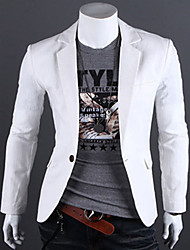 Happyboy 2015 spring new men's linen one button Slim small suit pure male casual jacket