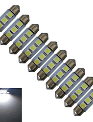 Jiawen® 10pcs festoon 36mm 0.5w 3x5050smd 60lm холодный белый свет чтения привело свет автомобиля (dc 12v)