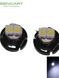 2 X T4.2 2LED 3528SMD Cool White Light  for Car Dashboard Light Bulb (DC12-16V)