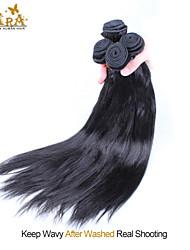"4Pcs Lot 10-26"" Unprocessed Vietnamese Virgin Human Hair Yaki Straight Color Natural Black Hair Bundles/Wefts"