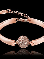 Bracelet/Charm Bracelets Crystal / Copper / Rhinestone / Rose Gold Plated Party / Daily Jewelry  Rose Gold,1pc Christmas Gifts