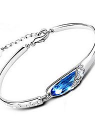 Deal Women's Crystal Silver Bracelet