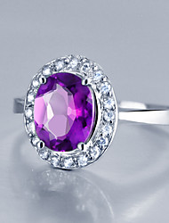 Women's Sterling Silver Ring with Amethyst More Sizes  SA0002R
