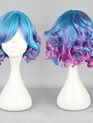 Multi -cor bonito lolita peruca peruca anime