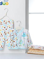 Ajiduo Newborn Babies Cute Cartoon Printed Pure Cotton Clothing Infant 2 Piece Set