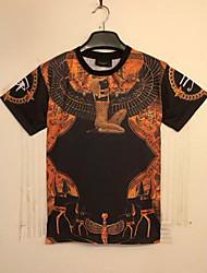 moda t-shirt 3d homens casuais Klim