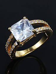 Hottest Fashion Big Zircon Gold Plated Statement Ring Fashion Rings for Women 2015