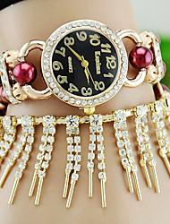 European Style Fashion Trend Tassel Pearl Rhinestone Bracelet Watches