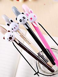 Cute Animal Patrón Negro Gel Ink Pen (colores aleatorios)