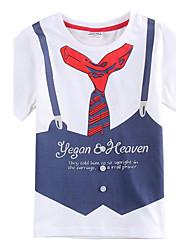 Children's Boy T shirt New Style Boys Summer Short Sleeve T shirt  with Button Cotton Boys Tees(Random Printed)