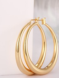 Fashion Round Shaped Environmental Copper Popular Gold Circle Adjustable  Earrings Jewelry (2 color)(1Pair)