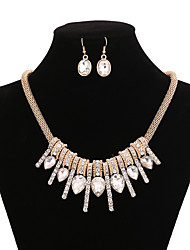 Zinc Alloy And Rhinestone Jewelery Set(Earrings & Necklace)