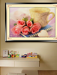 The New Cube 5D Diamond Paste Painting DIY BLUELOVER Stitch Roses Painting Bedrooms Restaurant Series