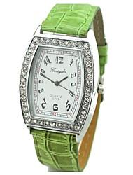 YUKO women's Fashion Square candy colored diamond belt fashion watch