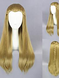 Moyenne 65cm droite Le Seigneur des anneaux Legolas-brun clair perruque cosplay