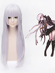 Light Purple Danganronpa Dangan-Ronpa 2 Kyouko Kirigiri Braid Anime Cosplay Wig + free wig cap