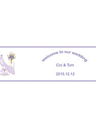 Wedding Décor Personalized   Banner - Purple