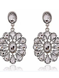 Masoo Women' Fashion Popular  Flower Crystal Earrings