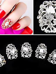 Мультипликация/Панк - 3D наклейки на ногти/Стразы для ногтей/Блеск - 5PCS - 5*5*0.5 - Металл - Пальцы рук