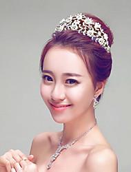 Pastoral Imitation Pearls/Rhinestones Wedding/Party Headpieces/Forehead Jewelry