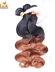 """3st / lot 10 """"-26"""" ombre hår malaysianen jungfru mänskliga hårförlängningar / väva buntar färg 1b30 kroppen våg mänskliga hårwefts"""