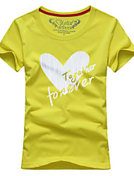 Ms. Couples summer short-sleeved t-shirts together forever # 067