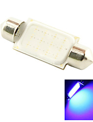 39mm 3W COB LED 200lm Blue Light Dome Festoon Reading Bulb Lamp for Car (DC 12V)
