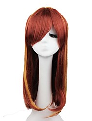 Sexy  Brown Synthetic Natural Looking Medium Long Wavy Womens Wigs