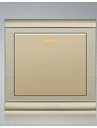 panneau en acier inoxydable de haute qualité dessinant un double interrupteur de commande