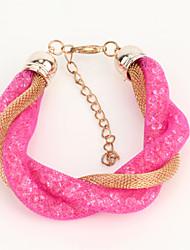 Bracelet Charmes pour Bracelets Bracelets Bracelets Vintage Alliage Strass Quotidien Décontracté Sports Bijoux CadeauBleu foncé Rose