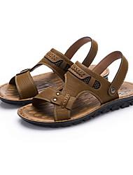 Zapatos de Hombre Casual Semicuero Sandalias Caqui