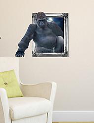 Adesivos de parede adesivos de parede 3d, parede gorila banheiro decoração mural pvc adesivos