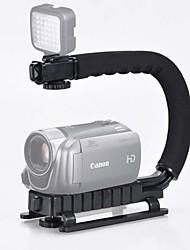 novo suporte de flash forma u preto aperto estabilizador handheld + 48h levou conjunto da lâmpada