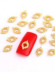 10PCS Gold Nail Art Jewelry Vintage Pattern Aryclic Nail Tips Decorations Nail Art Glitters for Nails